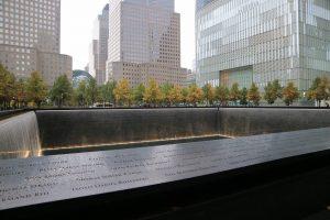September 11th memorial in New York at ground zero