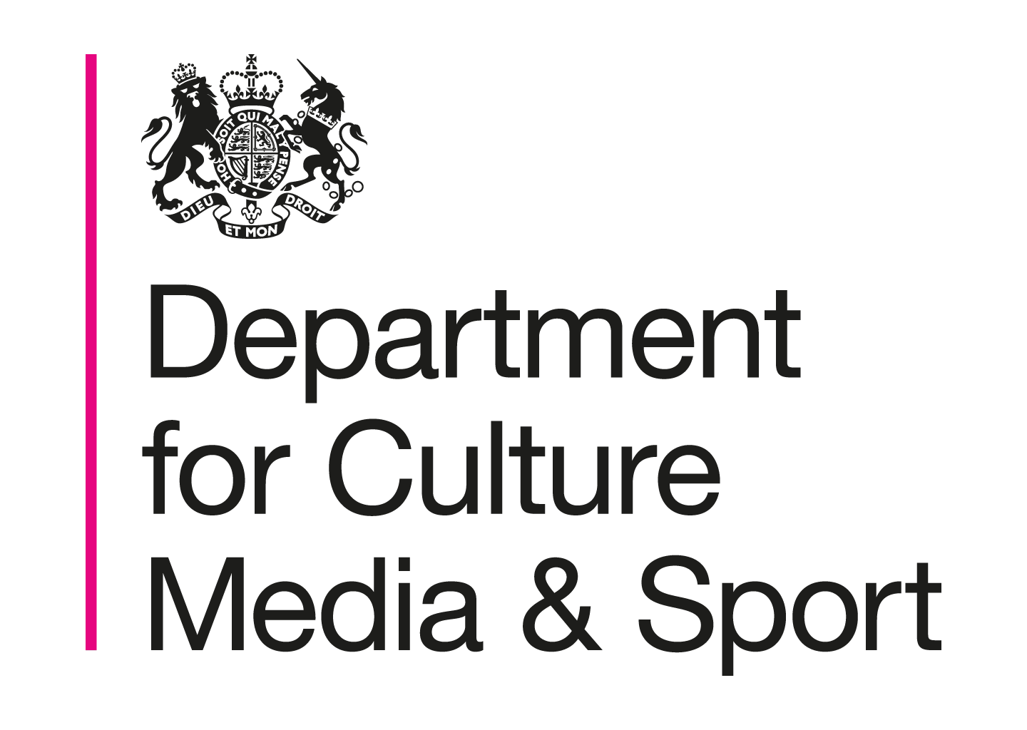 Logo for the Department for Culture, Media and Sport